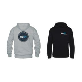 UCEM branded Hoodies Navy and Grey